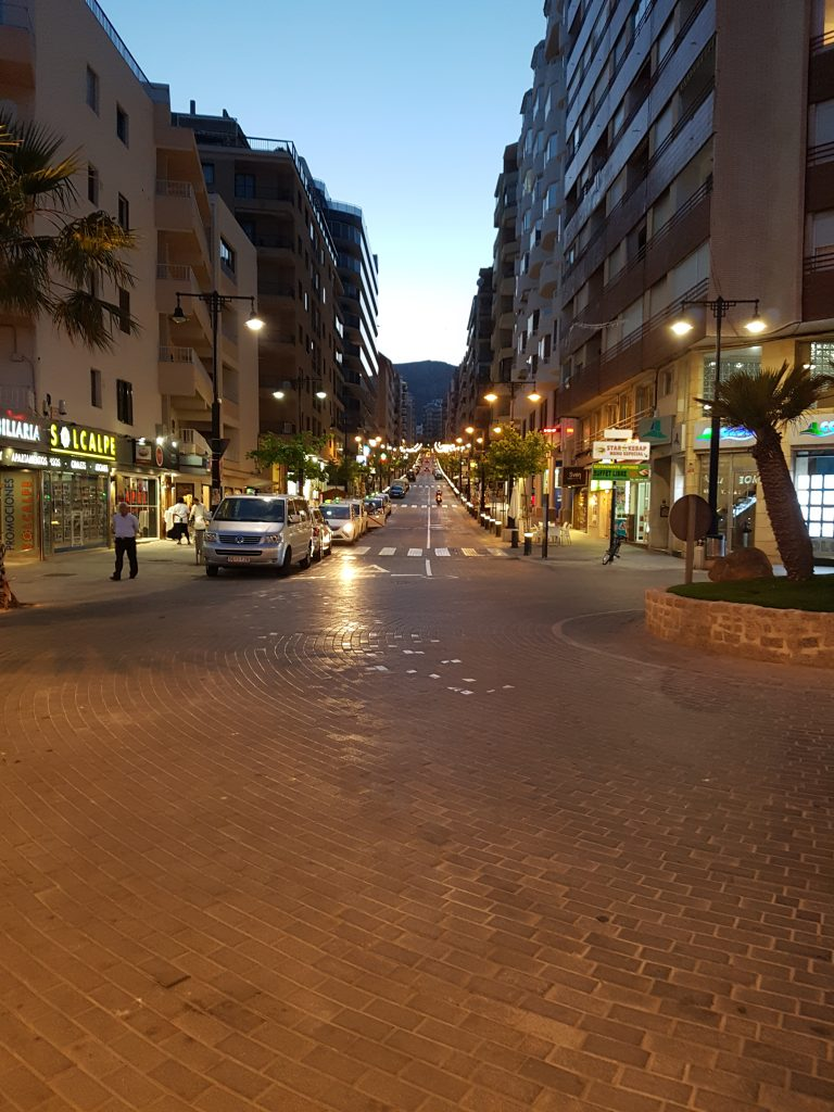 Streat in centrum from Calp